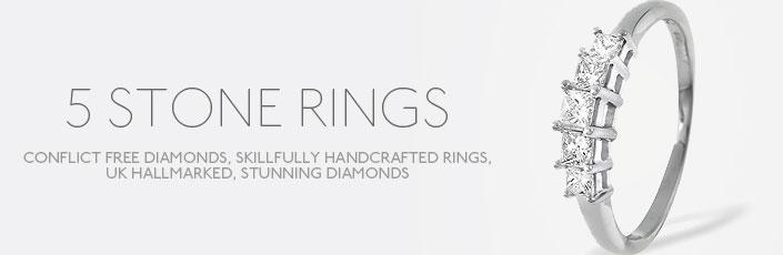 5 Stones Rings