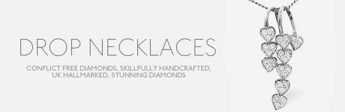 Diamond Drop Necklaces