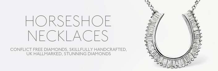 Diamond Horse-Shoe Necklaces
