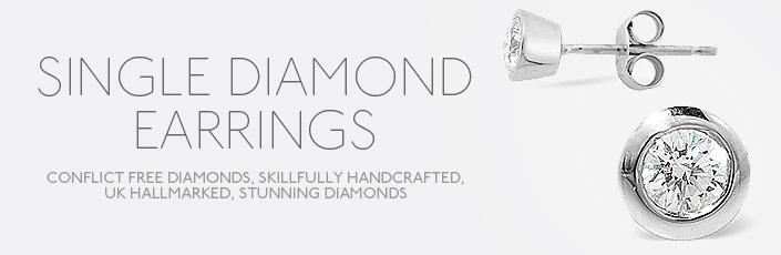Single Diamond Earrings