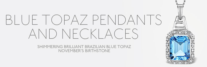 Blue Topaz Pendants And Necklaces