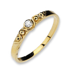 9K GOLD DIAMOND RING WITH BOW DETAIL