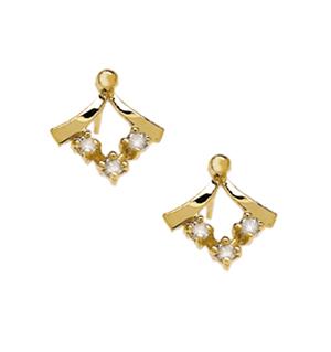 DIAMOND AND 9K GOLD STUD EARRINGS - RTC-B3341