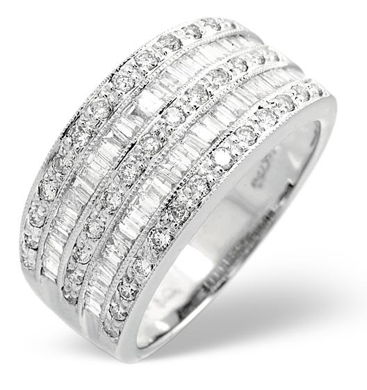 18K White Gold Diamond Ring 1CT - Item N3559