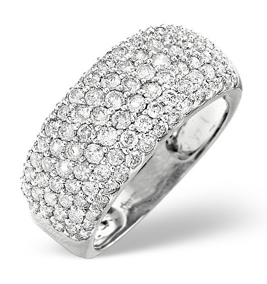 1.35ct H/SI Diamond and Platinum Ring