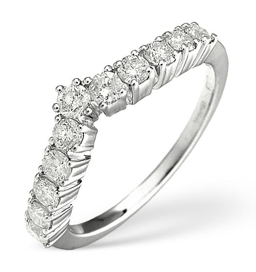DIAMOND WISHBONE RING 0.70CT IN 18K WHITE GOLD