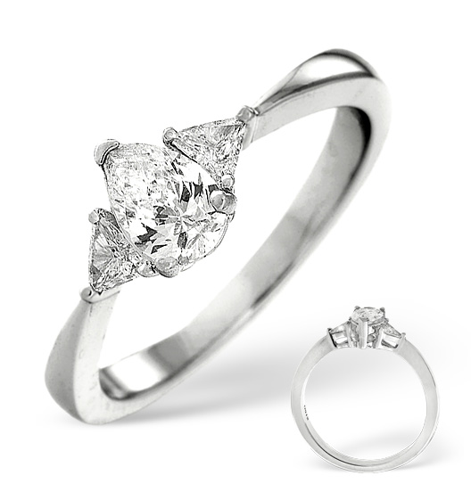 SIDESTONE ENGAGEMENT RING 0.65CT SI DIAMONDS IN 18K WHITE GOLD N3909