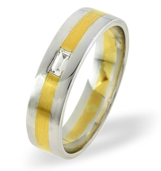 MENS 0.07CT H/SI DIAMOND 18K GOLD DRESS RING