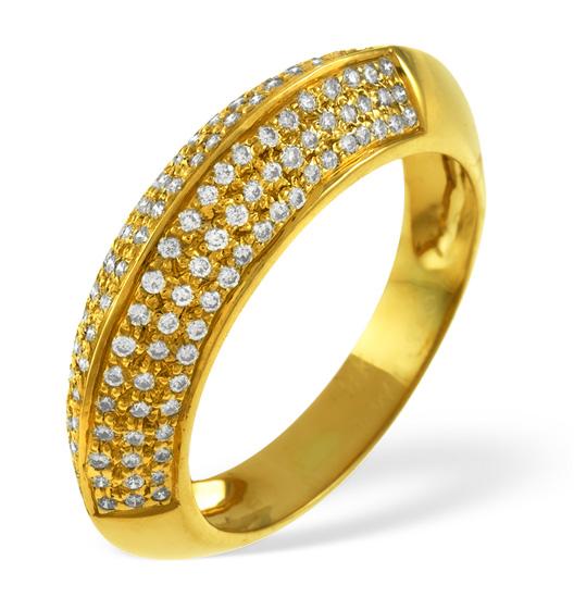 18K GOLD DIAMOND PAVE RING 0.32CT H/SI