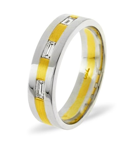 MENS 0.14CT H/SI DIAMOND 18K GOLD DRESS RING