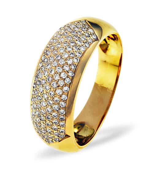 18K GOLD DIAMOND PAVE RING 0.35CT H/SI