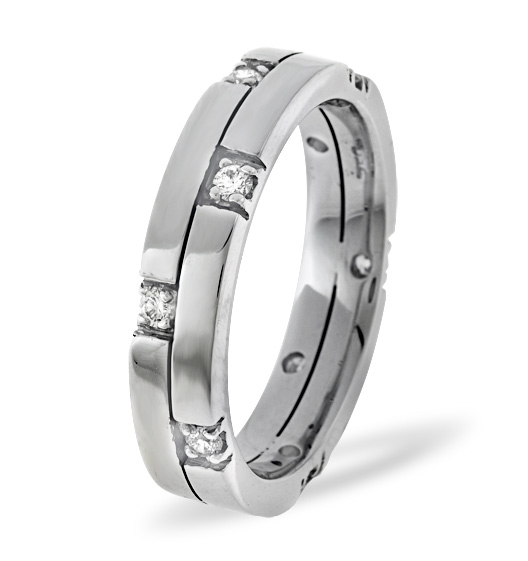 MENS 0.22CT H/SI DIAMOND PALLADIUM DRESS RING