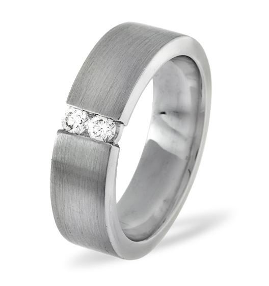 MENS 0.12CT H/SI DIAMOND PALLADIUM DRESS RING