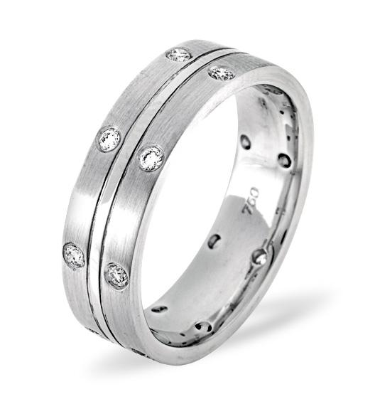 MENS 0.21CT H/SI DIAMOND PALLADIUM DRESS RING