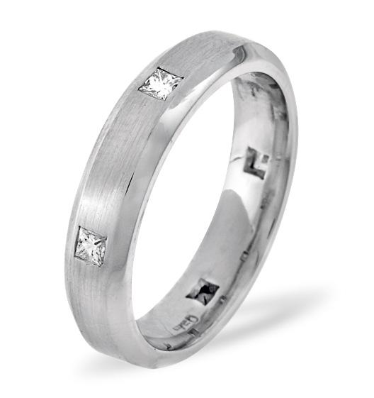 MENS 0.28CT H/SI DIAMOND PALLADIUM DRESS RING