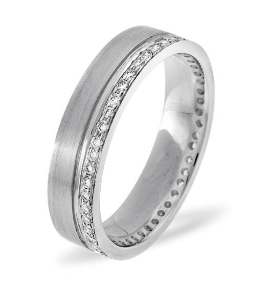 MENS 0.27CT H/SI DIAMOND PALLADIUM DRESS RING