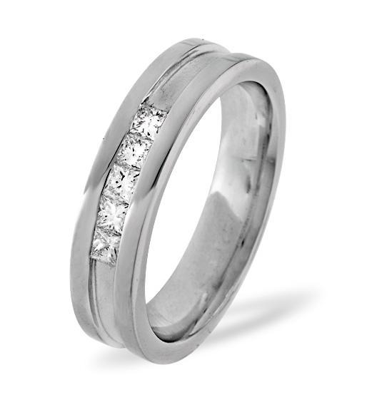 0.22CT H/SI DIAMOND AND PLATINUM WEDDING RING -  YD29-44JUS