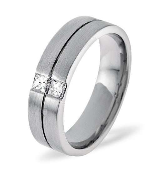 MENS 0.16CT H/SI DIAMOND PALLADIUM DRESS RING