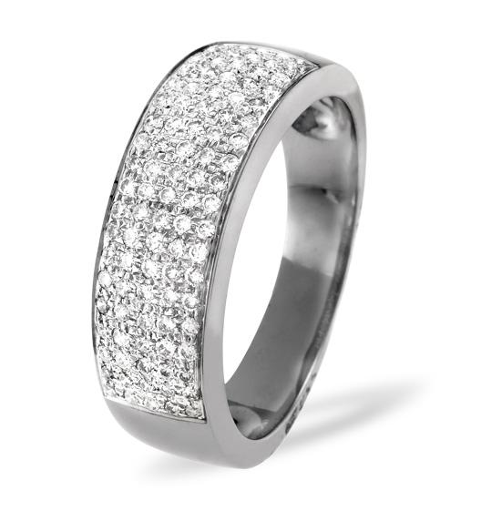 18K WHITE GOLD DIAMOND PAVE RING 0.45CT H/SI