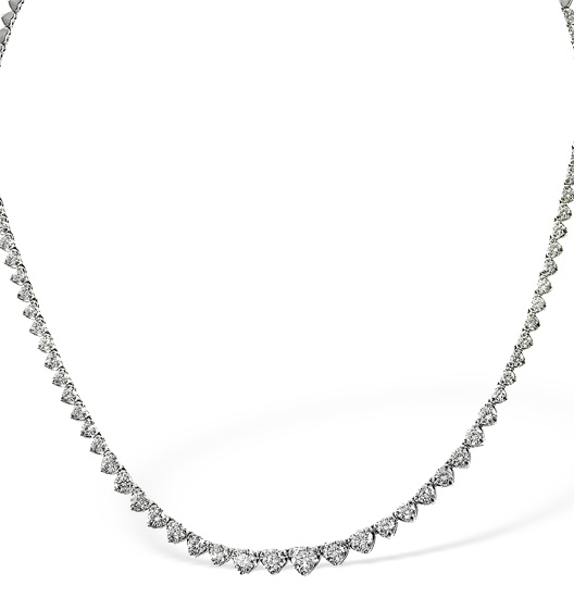 DIAMOND NECKLACE 18K WHITE GOLD 3.00CT PK