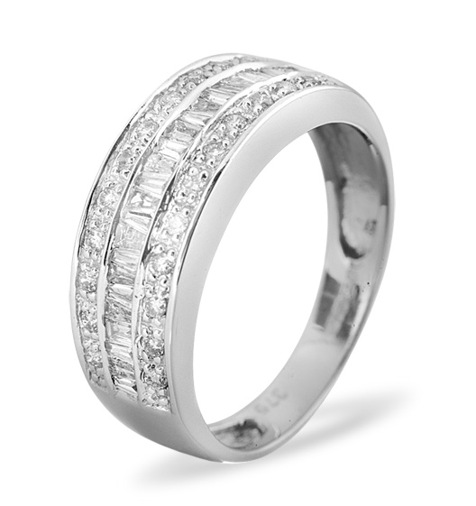 9K Half Eternity Rings