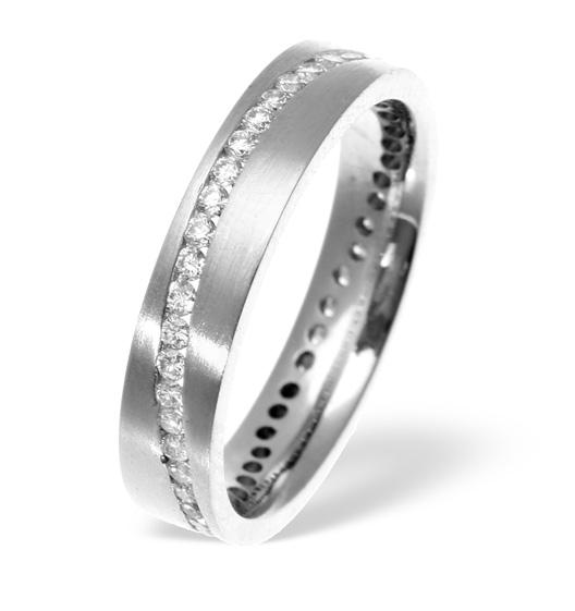 LUCY SWIRL PALLADIUM DIAMOND WEDDING RING 0.55CT H/SI