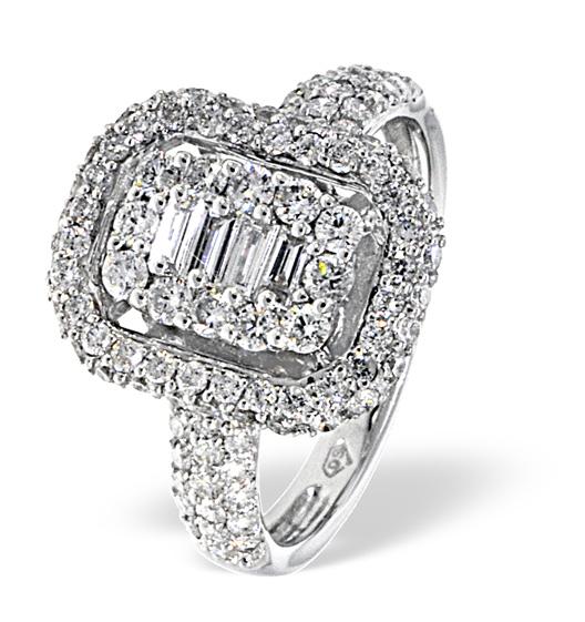 18K WHITE GOLD DIAMOND RING 1.19CT