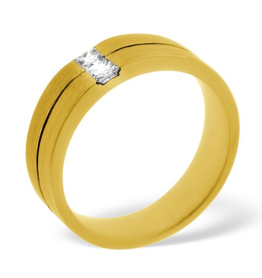 MENS 0.16CT H/SI DIAMOND 18K GOLD DRESS RING