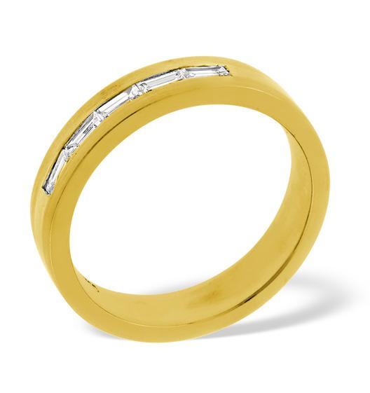 MENS 0.22CT H/SI DIAMOND 18K GOLD DRESS RING