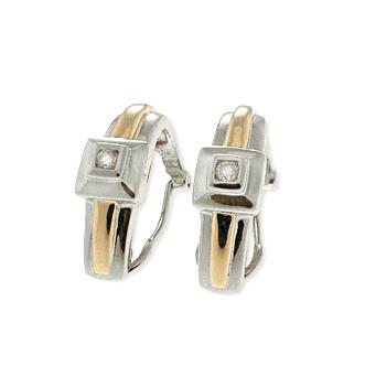 9K WHITE GOLD DIAMOND EARRINGS (0.11CT)
