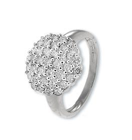 9K White Gold Diamond Cluster Ladies Ring (0.80ct)