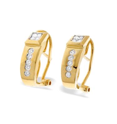 9K GOLD DIAMOND DESIGN EARRINGS (0.22CT)