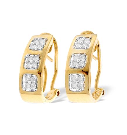 9K GOLD DIAMOND DESIGN EARRINGS