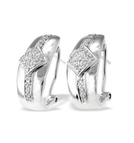 9K WHITE GOLD DIAMOND DESIGN EARRINGS (0.25CT)