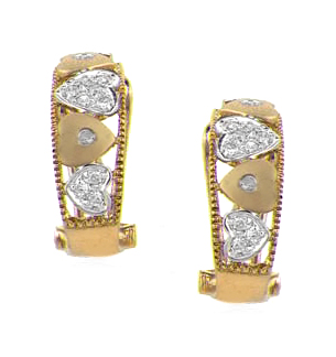 DIAMOND 0.20CT  AND 9K GOLD HUGGY EARRINGS - RTC-H3205