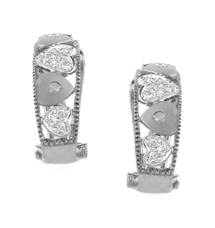DIAMOND 0.20CT  AND 9K WHITE GOLD HUGGY EARRINGS - RTC-H3205Y