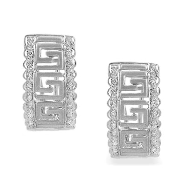 DIAMOND 0.25CT  AND 9K WHITE GOLD EARRINGS - RTC-H3611