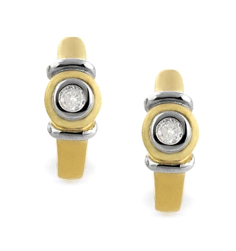 DIAMOND 0.12CT  AND 9K GOLD EARRINGS - RTC-H3605