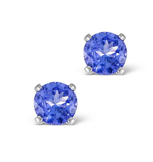 Tanzanite 1.00CT high quality (AA) 925 Silver Earrings