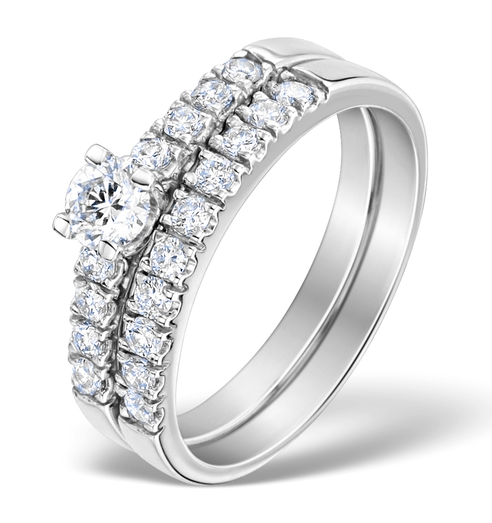 Matching Diamond Engagement and Wedding Ring 0.66ct 18K Gold - DN3224