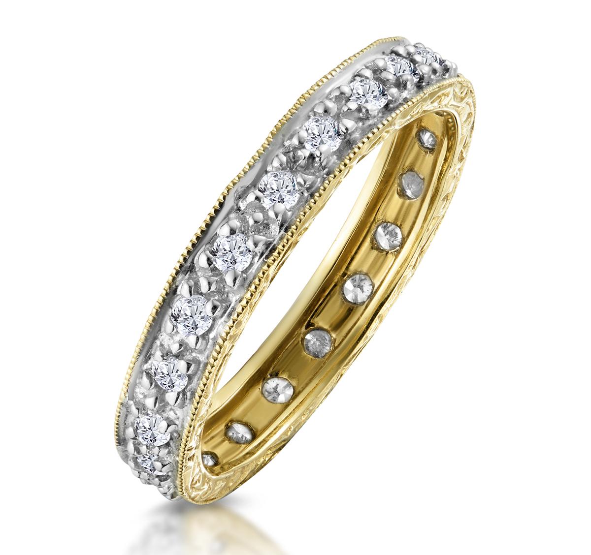 ETERNITY RING 0.33CT DIAMOND 9K GOLD