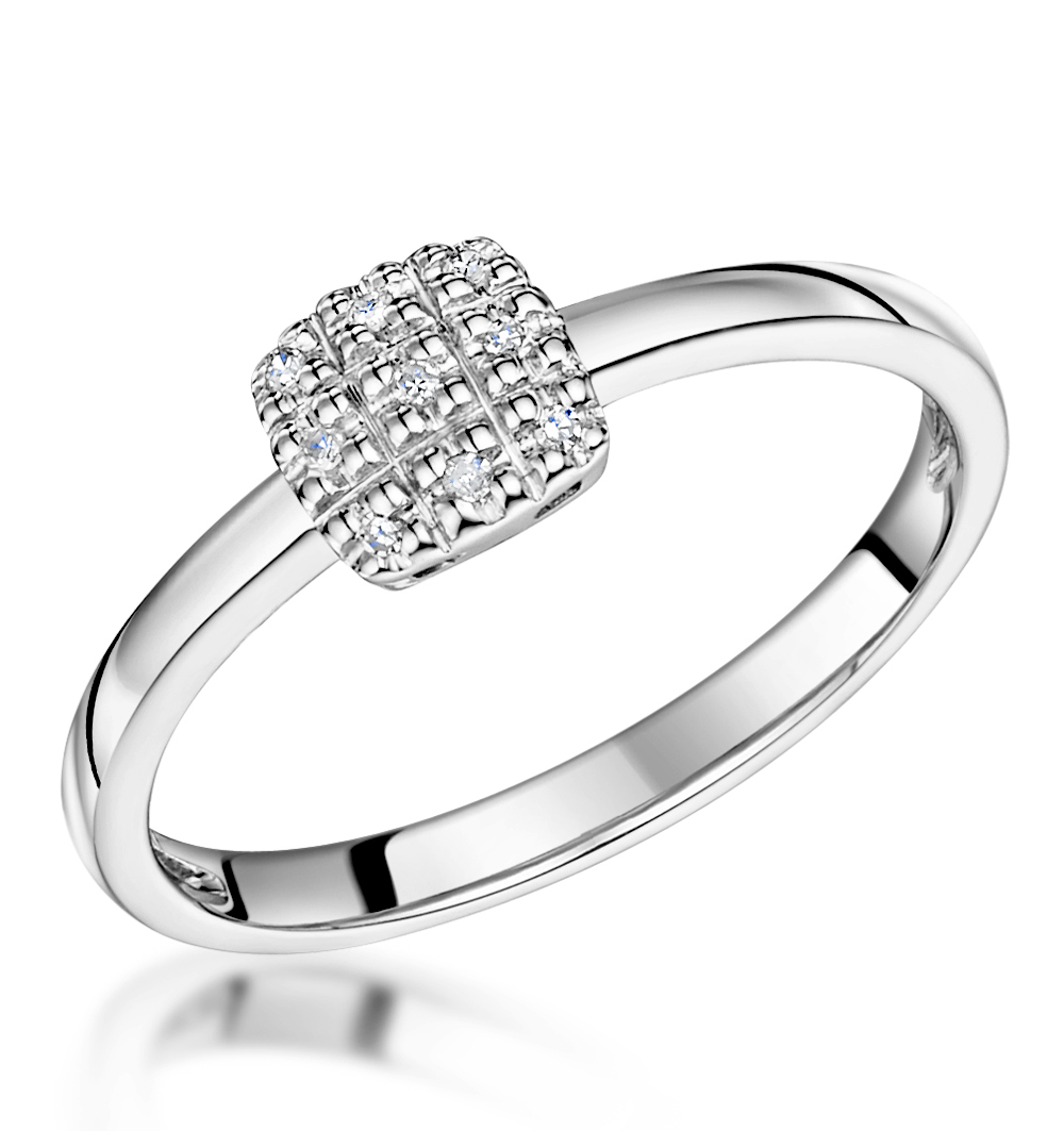 Stellato Collection Diamond Ring 0.03ct in 9K White Gold - E5995