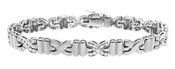 DIAMOND 0.67CT 18K WHITE GOLD BRACELET - RTC-EDT2248Y