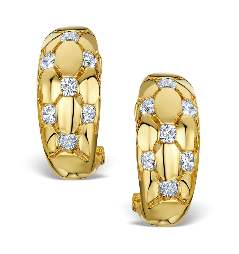 DIAMOND 0.50CT 18K GOLD EARRINGS - RTC-EG265