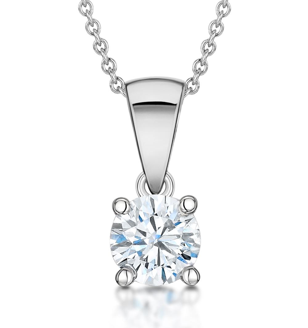 0.50ct Diamond and 18K White Gold Pendant -  FR23-72RMY