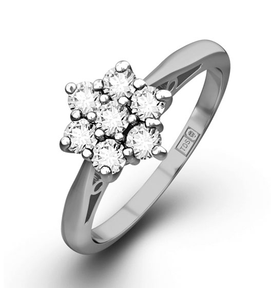 0.25ct G/Vs Diamond and Platinum Ring - Ft20-47Xus