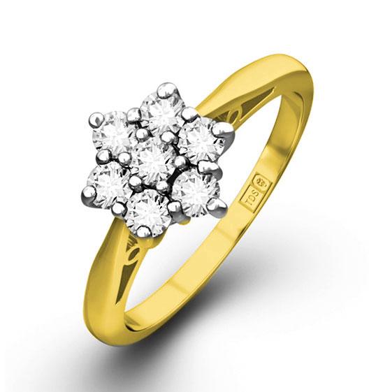 0.25ct G/Vs Diamond and 18K Gold Ring - Ft20-47Xua