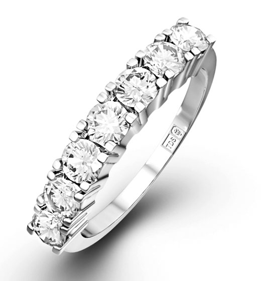 7 Stone Chloe Half Eternity Rings