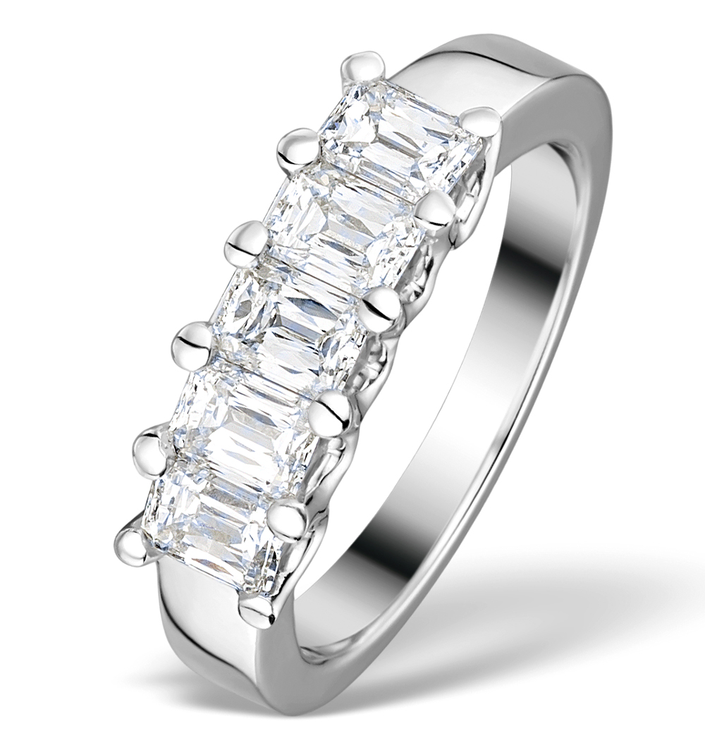 1.50CT IDEAL PRINCE CUT DIAMOND AND 18K WHITE GOLD H/SI RING FT53