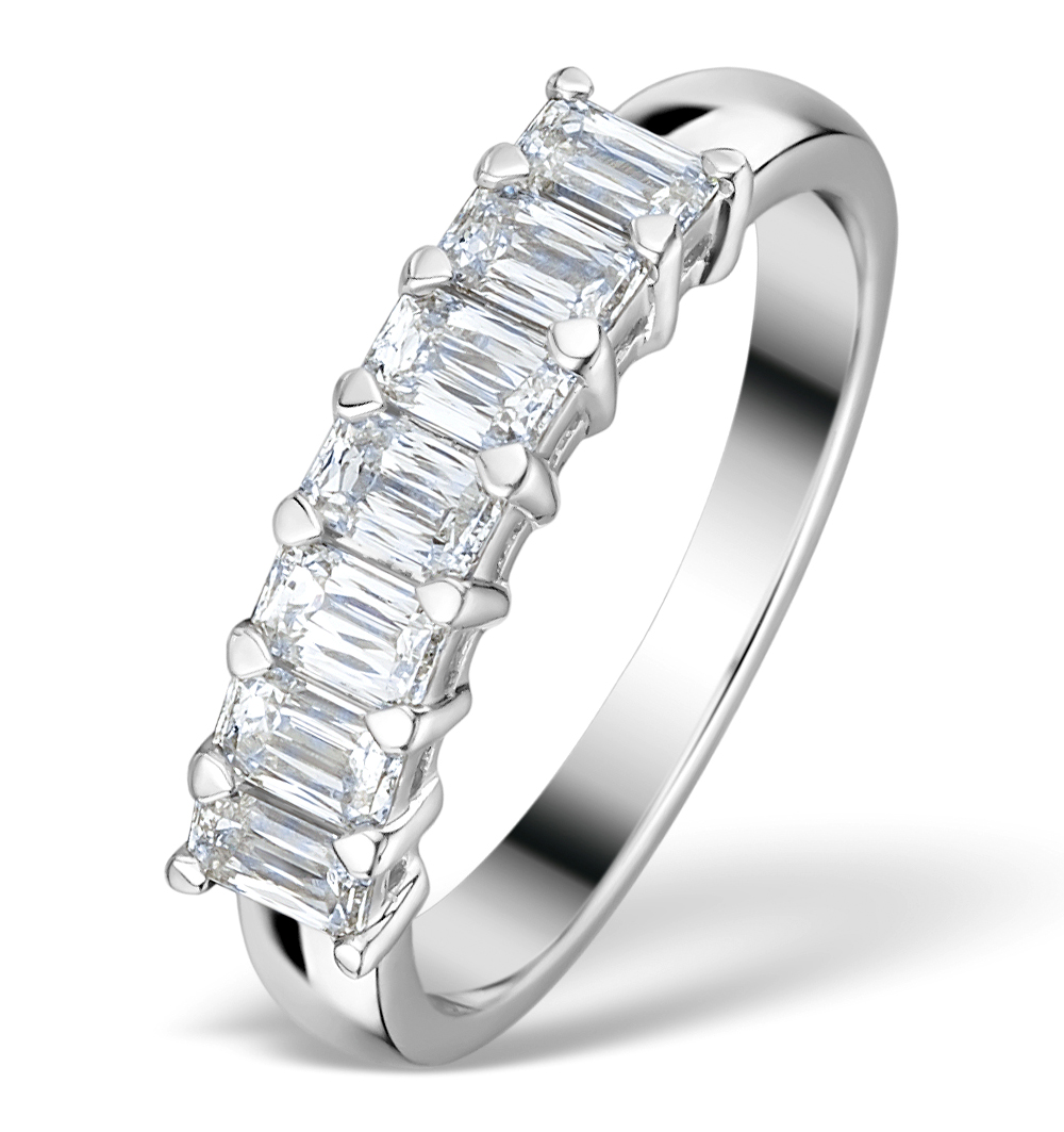 1CT IDEAL PRINCE CUT DIAMOND AND 18K WHITE GOLD H/SI RING FT54
